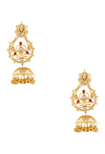 gold-plated-pearl-dangling-jhumka-earrings