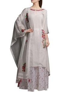 ivory-embroidered-asymmetric-cotton-georgette-kurta-with-block-printed-cotton-palazzos-organza-dupatta