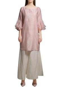 blush-pink-chanderi-kurta-with-cotton-silk-flared-pants