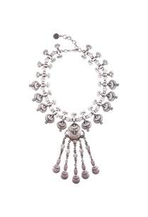 silver-finish-coin-statement-necklace