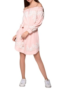 blush-moss-crepe-pink-belted-bardot-dress
