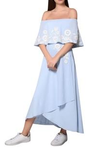 icy-blue-moss-crepe-bardot-layer-dress
