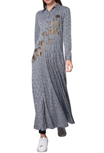 grey-jersey-beaded-maxi-shirt-dress