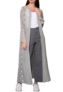 grey-ikat-georgette-long-jacket