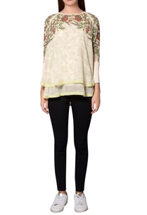 ivory-georgette-floral-printed-layered-blouse