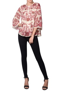 red-white-georgette-floral-printed-blouse
