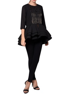 black-georgette-bead-embroidered-blouse