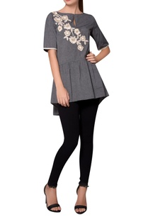 grey-tiered-style-jersey-blouse