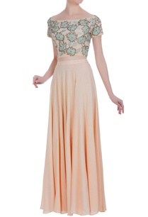 floral-patchwork-embroidered-off-shoulder-blouse-with-skirt