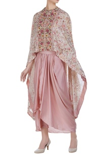 thread-sequin-embroidered-cape-with-dhoti-skirt
