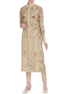 floral-embroidered-jacket-style-kurta-with-leggings