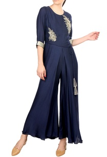 blue-crepe-silk-flared-wrap-layer-jumpsuit