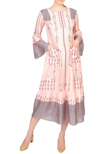 pink-cotton-printed-midi-dress-with-bell-sleeves