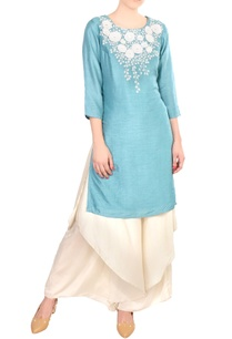 blue-embroidered-satin-crepe-silk-kurta-with-palazzos