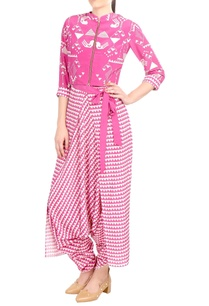 pink-crepe-silk-printed-jacket-with-dhoti-pants