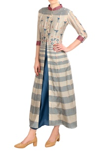 blue-printed-layered-chanderi-dress