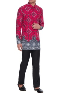 magenta-grey-agni-printed-kurta-shirt