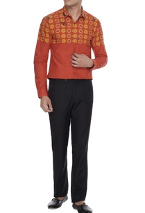 orange-butterfly-printed-collar-shirt-with-long-sleeves