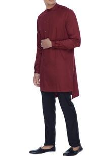amaranth-maroon-kurta-style-shirt