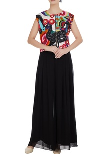 multicolored-swan-motif-sequin-hand-embroidered-sleeveless-blouse
