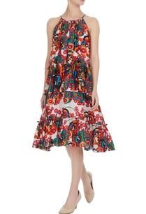 multicolored-mini-dress-in-artsy-psychedelic-split-face-print