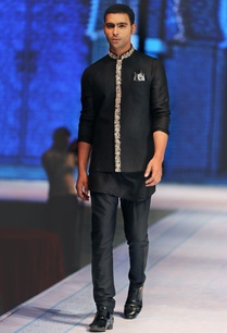 black-zardozi-embroidered-nehru-jacket-with-kurta-churidar
