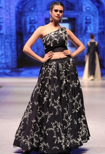 navy-blue-silk-cutdana-embroidered-lehenga-with-one-shoulder-blouse