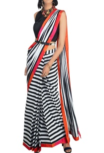 multicolored-stripe-crepe-silk-and-satin-saree-with-blouse-belt