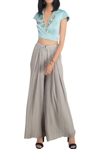 sky-blue-chiffon-and-satin-pearl-embellished-crop-top-with-high-waist-pants