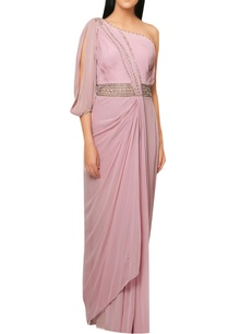 pink-satin-draped-saree-gown-with-intricate-embrodiery