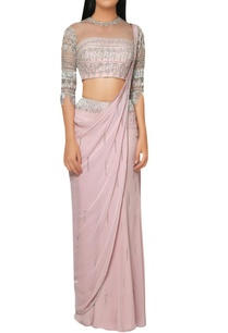 pink-kutdana-fringe-draped-saree