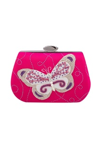 pink-silk-hand-embroidered-bead-clutch-with-detachable-chain