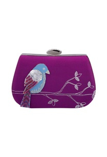 purple-embroidered-bird-motif-hand-painted-box-clutch