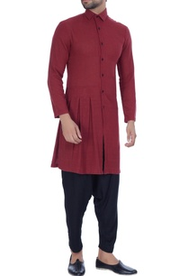 rust-jute-button-down-kurta