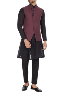 dark-purple-linen-asymmetric-jacket
