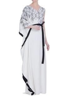 kaftan-style-dress-with-bugle-bead-embroidery