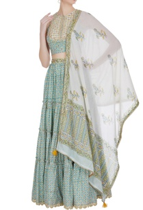 embroidered-blouse-with-frill-lehenga-and-dupatta
