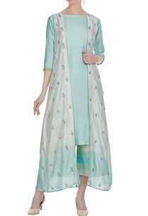 chanderi-kurta-with-floral-embroidered-jacket-palazzo