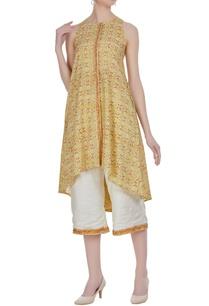 jaipuri-printed-sleeveless-kurta-with-cropped-pants