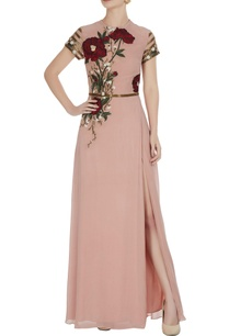 pink-embroidered-gown-with-sequence-waist-band