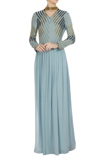 blue-georgette-silk-embroidered-dress