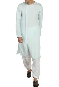 aqua-blue-linen-satin-kurta-with-white-patiala-pants
