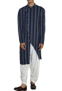 blue-white-stripe-asymmetric-kurta-with-white-salwar-pants