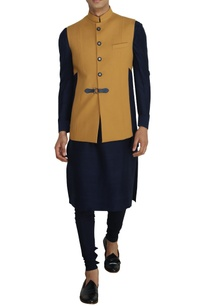 mustard-nehru-jacket-with-buckle-detail