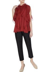 red-organza-frilled-blouse
