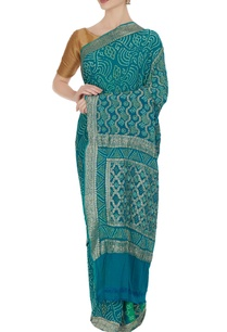 dual-toned-banarasi-bandhani-saree-unstitched-blouse