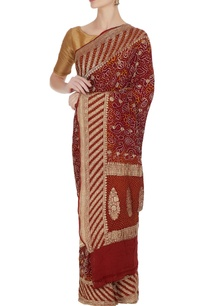 banarasi-bandhani-saree-with-unstitched-blouse