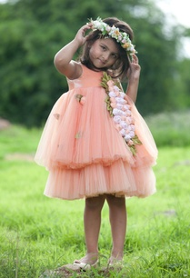 peach-flared-net-dress-with-embroidered-corsages