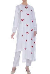 ikkat-print-kurta-with-high-low-hemline
