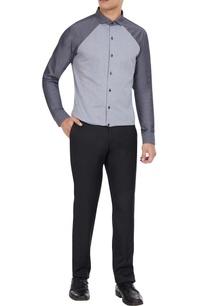 grey-cotton-button-down-shirt